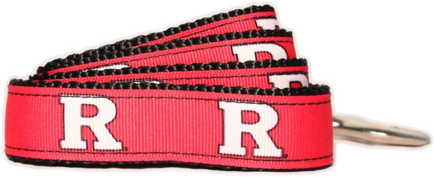 NCAA Rutgers Ranking TOP9 Scarlet Knights Dog Team Color Large Ranking TOP3 Leash