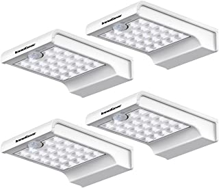 Best InnoGear 24 LED Solar Lights Dim to Bright Motion Sensor Outdoor Wall Light Security Night Light for Gutter Patio Garden Path, Pack of 4 Reviews