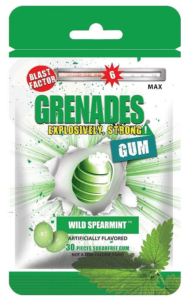 Grenades Gum - 30ct Bag - STRONG MINT GUM (Wild Spearmint)