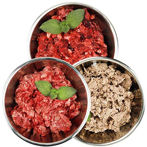 Barf-Snack biologisch artgerechtes Rohfutter - Sparpaket Rind-Mineral-Mix 28kg Gefrierfutter für Hunde, Frostfutter für Katzen, Barf-Frischfleisch