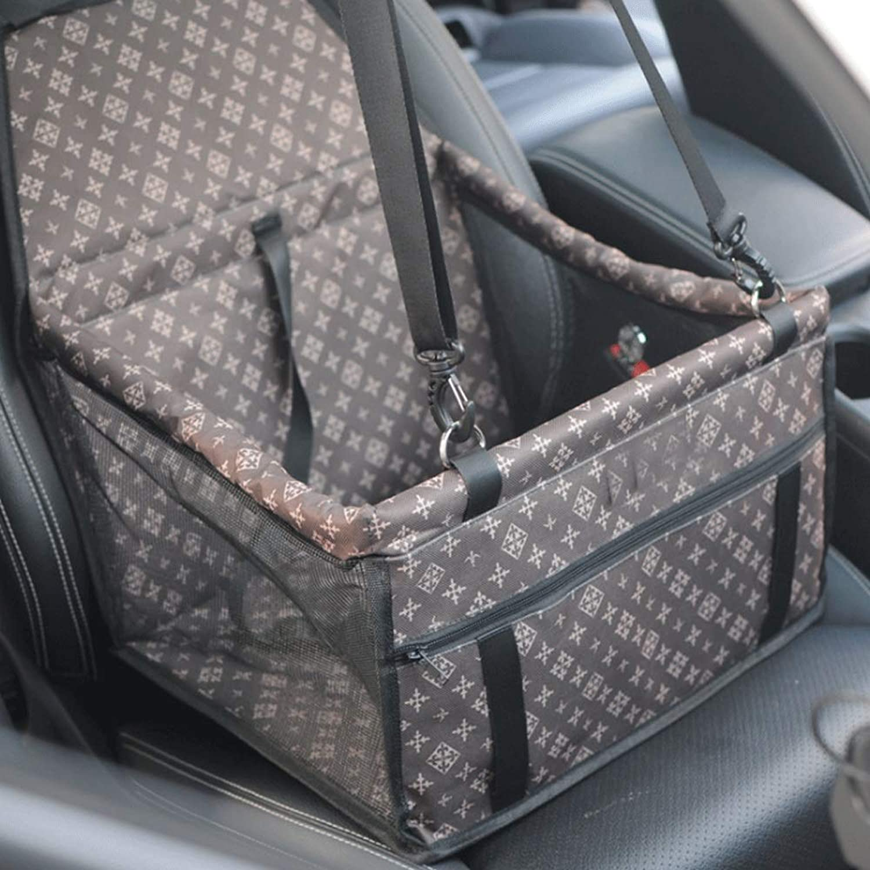 Pet Car Seat Pets Folding Car Safety Seat Dog Car Seat (color   Brown)