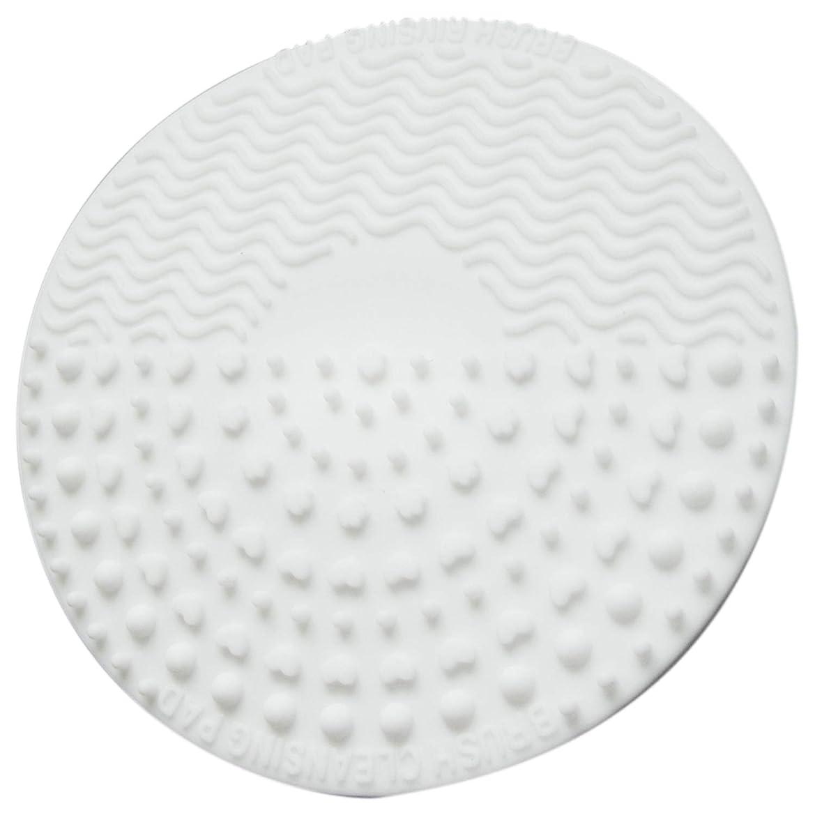 アナニバー深く納得させるTOOGOO シリコーン化粧ブラシ クレンジングパッド パレット ブラシ クリーナークリーニングマット 洗濯スクラバーパッド 化粧品メイクアップクリーナーツール ホワイト