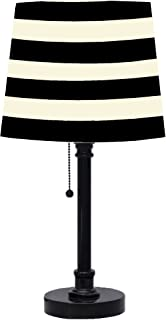 black and white striped table lamp