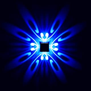 Applique Murale LED 3W Design Original 4 papillons - Bleu