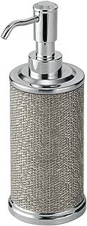 InterDesign Twillo dosificador de jabón | Dispensador de jabón líquido único | Accesorios de baños de calidad 354 ml | Metal plateado