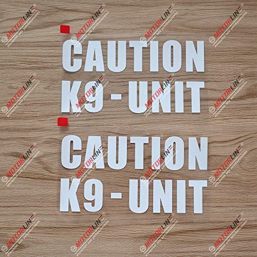 2X White 6'' K9 Unit K-9 Police Dog Caution Decal Sticker Car Vinyl