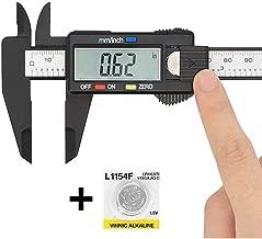 WEIJ 0-4in/100mm LCD Screen Plastic Electronic Vernier Caliper Measuring Tool Digital Caliper
