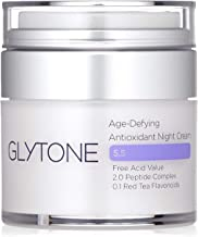 Glytone Age-Defying Antioxidant Night Cream, Glycolic Acid & Peptide Complex, Hydrates, Renews & Reduces Appearance of Fine Lines & Wrinkles, 1 oz.