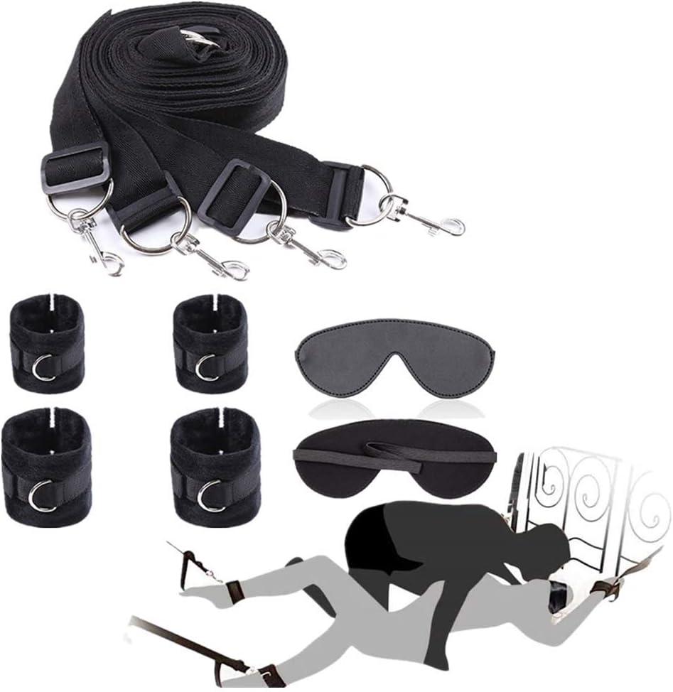 Bandḁgḗ Rḗštråînt Set for Women Under Bed Systèm Kit âdǔlt Toys with ânklè Wrist Cǔffs Bóńdâgê Kit Sèt for Coǔplès-2F57
