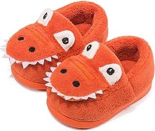Voqeen Pantofole Peluche Pantofole Animali Dinosauro del Fumetto Bambini per Ragazze e Ragazzi Scarpe da Casa Scarpe Calda...