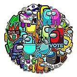 TUHAO Among Us Game Stickers Pack Skateboard Fridge Guitar Laptop Motorcycle Luggage Cartoon Waterproof Kids Sticker Toys 50Pcs