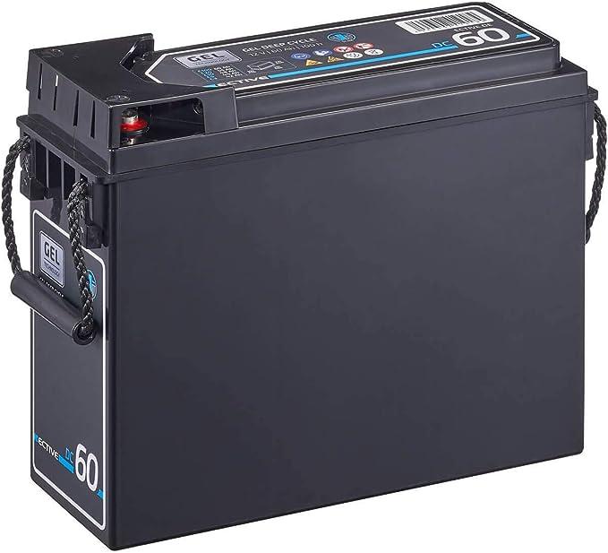 Ective 60ah 12v Gel Frontterminal Batterie Dc60 Slim Gel Deep Cycle Schmale Versorgungsbatterie Vrla Zyklenfest In 7 Varianten Wartungsfrei Auto