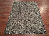 Manhattan Oriental Rugs Handmade Zero Pile Wool Area Rug Distressed Modern Diamond 4X6/ 5X8 / 6X9 / 9X12 (4X6)