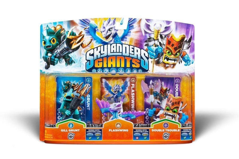 Skylanders Giants - Triple Pack Figuras D: Gill Grunt, Flashwing Y Double Trouble: Amazon.es: Videojuegos