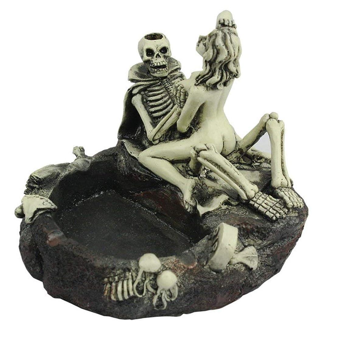 絶え間ない調子盆創造的な人格スケルトンのテーマ灰皿のスケルトン美しさの楽しい灰皿ボーイフレンドの楽しい装飾のギフトを送る