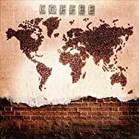 Djskhf カスタムサイズ写真3Dコーヒー起源壁紙Ktvテーマホテルレストランクラブカフェ背景コーヒー国地図壁紙壁画 100X50Cm