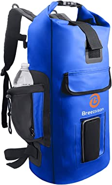 Breezsisan Dry Bag Backpack Waterproof 30l | water sports Bags for: Boating Kayaking Swimming Fishing Diving Hunting-Light Back Sack with Padded Straps & Mesh Pocket- Rolltop Drybags Backpacks for Men