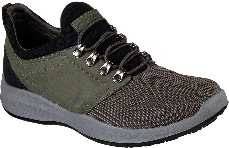 Skechers Wallen Folt Mens Slip On Sneaker Oxfords Olive 10