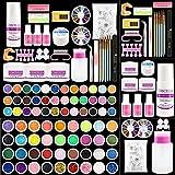 Acrylic Nail Kit 36 Colors Glitter Acrylic Nail Powder Monomer Acrylic Nail Liquid Set Acrylic Nail Supplies Nail Art Decoration Tools Professional Manicure Set