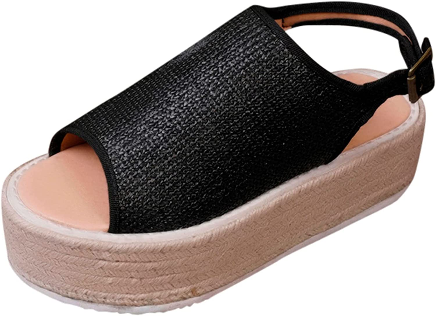 Nihewoo Sandals for Women Casual Summer Soled with Thick H Shoes 25% OFF Max 75% OFF