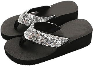 b44ac0b284f662 Theshy Women s Summer Sequins Anti-Slip Sandals Slipper Indoor   Outdoor  Flip-Flops