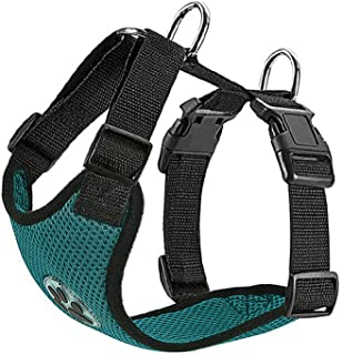 SlowTon Dog Car Vest Harness Multifunction Adjustable Double-Ring Breathable Mesh Fabric Harness for Cat Puppy Road Trip Daily Walks(No Seatbelt, Only Harness)