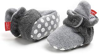 puseky Calzini del cotone del pizzo dellincrespatura del fiore dei calzini della neonata del neonato di 3 accoppiamenti per il regalo 0-6M