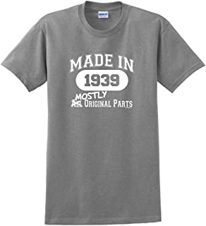 80th Birthday Gift Made 1939 Mostly Original Parts T-Shirt