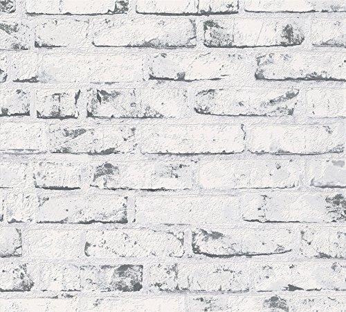 A.S. Création Vliestapete New England Tapete in Backstein Optik 10,05 m x 0,53 m beige grau Made in Germany 907837 9078-37