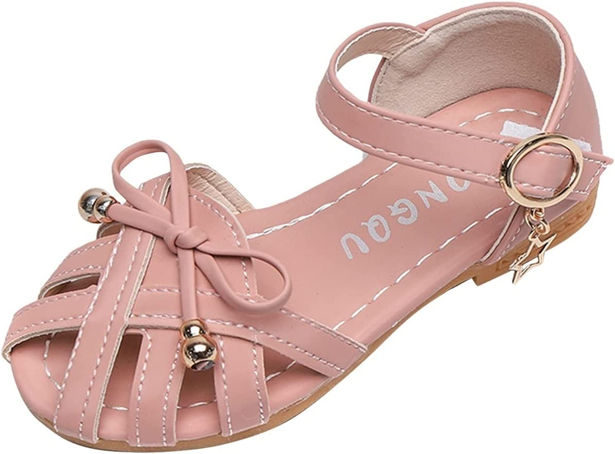 Children Leather Sandals with Bowtie Baby Bow Toddler Soft Long Beach Mall Girls Max 49% OFF