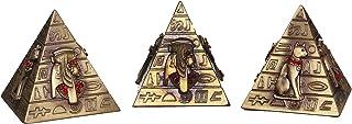 اهرامات فرعونية مزخرفة برسومات فرعونية مكونة من 3 قطع, متعدد الالوان