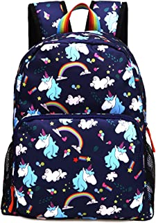 Kemy's Rainbow Preschool Toddler Backpack for Girls, Water-Resistant Resistant …