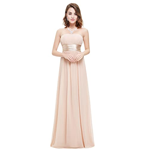 063dad9752f6 Ever Pretty Strapless Ruched Bust Black Chiffon Long Evening Party Dress  09955