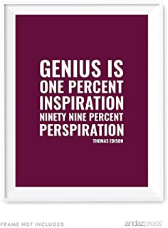 Best edison quote inspiration perspiration Reviews