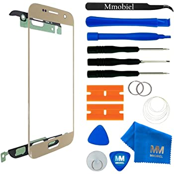 MMOBIEL Front Glass Replacement Compatible with Samsung Galaxy S7 G930 (Gold) Display Touchscreen incl Tool Kit