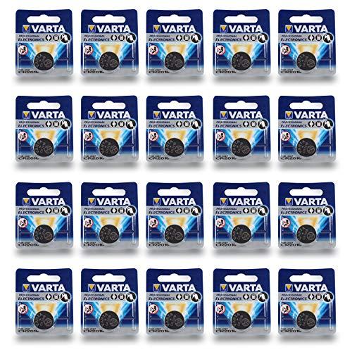 Varta Batterien Electronics CR2016 Lithium Knopfzelle 3V Batterie 20er Pack Knopfzellen in Original 1er Blisterverpackung