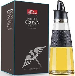 PURPLECROWN 500ml Auto Flip Spray Olive Oil Dispenser Bottle,Seasoning bottle, Condiment Container Oil Glass Bottle For Ki...