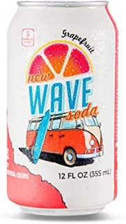 Wave Soda Sparkling Juice, Grapefruit, 12 Ounce Cans (Pack of 12)