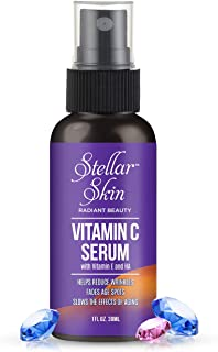 Premium Vitamin C Serum For Face Also Contains Vitamin E and Hyaluronic Acid, Anti Wrinkle, Anti Aging Skin Care Product, Promote Youthful & Vibrant Skin, Pump Action Bottle, 1 fl oz, Made in USA