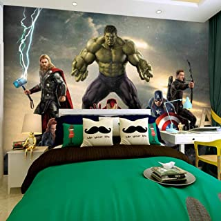 RQWBH 3D Stereo Alliance Movie Theme Self-Adhesive Wallpaper (W) 200 X 140Cm (H) Wallpaper Mural Poster Photo Children's Princess Room Bedroom Living Room Office Wall Art Wallpaper