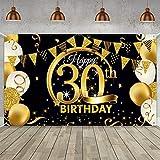 TOPHOPE 30 Geburtstag Dekoration Schwarz Gold, 30.