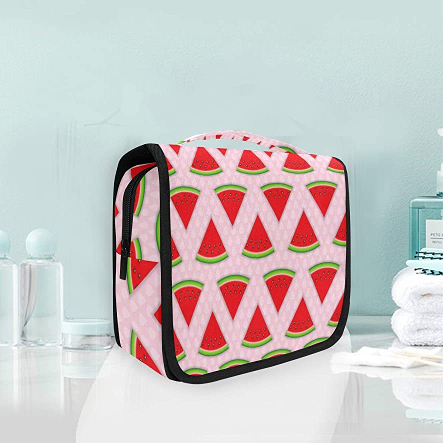 MONTOJ Abstract Natural Summer Background With Watermelon Wash Gargle Bag Cosmetic Bag Travel Makeup Bag Artist Organizer Portable Storage Bag