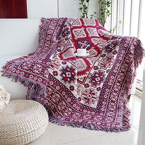 LOOEST Suave Sofá de la Manta del sofá/Camas Viaje a Cuadros Antideslizante Costura de la decoración del hogar Mantas Manta Lanza Casa Dormitorio (Color : Black, Size : 180x230cm)