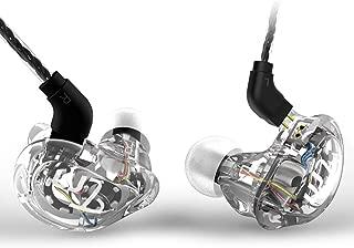 TRN V10 ハイブリッド 4ドライバ イヤホン 2BA+2DD 搭載 高音質 2Pinリケーブル イヤホン カナル型 イヤホン 高遮音性 ノイズキャンセリング Hifi ヘッドセット スポーツ イヤフォン ヘッドホン リケーブル着脱式 3.5mm プラグ Yinyoo (ホワイト・マイクなし)