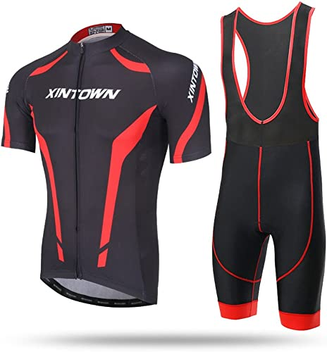Qsjb XINTOWN été Pour des hommes Unisexe Transpirant à Sec et Rapide Cyclisme Full-Zip manche courte Pantalons Bicycle Clothes Sets Costumes Bike Racing VTT Sports d'extérieur