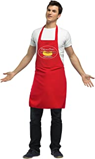 Men's Dirty Hot Dog Vendor Apron Funny Theme Halloween Fancy Costume