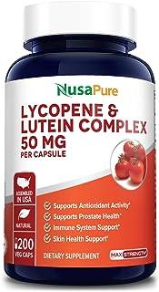 Sponsored Ad - Lycopene & Lutein Complex 50MG 200 Veggie Capsules (Non-GMO & Gluten Free) Antioxidant Natural Tomato Great...