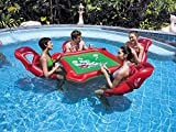 ZHONGXIN Juguetes Gigantes de Natación, Fila Flotante de Agua Al Aire Libre Mesas de Ajedrez de Mesa Mahjong, Anillos de Natación Para Adultos, Tour Holiday Entertainment Toys