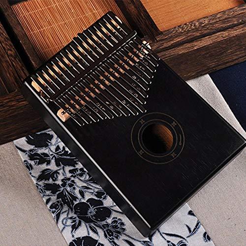 Daumenklavier mit 17 Tasten, Mahagoni, menschliches Instrument, Schwarz