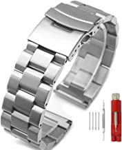 Silver/Black Stainless Steel Watch Bands Brushed Finish Watch Strap 18mm/20mm/22mm/24mm..